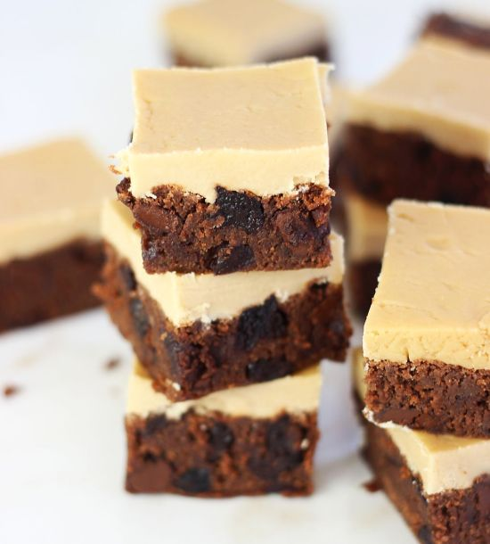 cherry bourbon brown butter brownies with brown sugar bourbon frosting 10