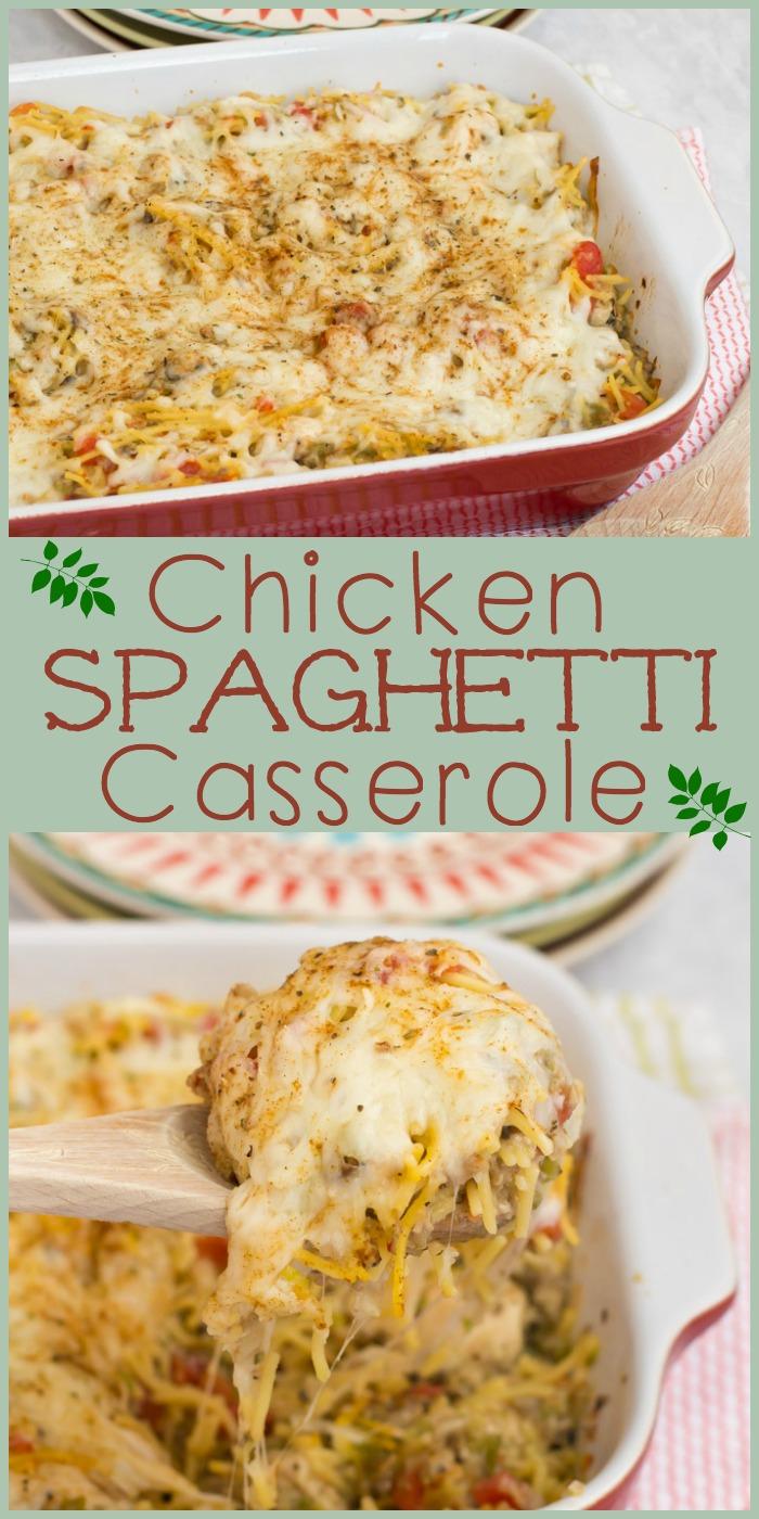 chicken-spaghetti-casserole-collage