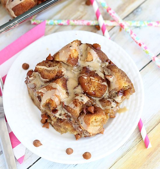 coffee and donuts bread pudding 14