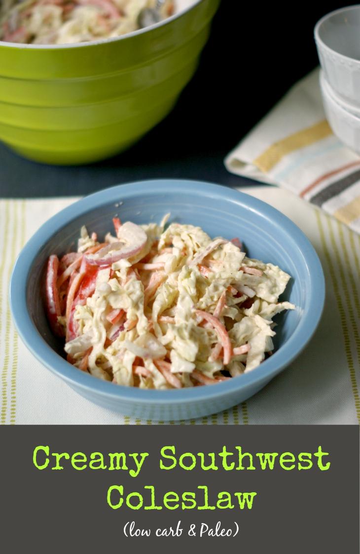 creamy southwest coleslaw
