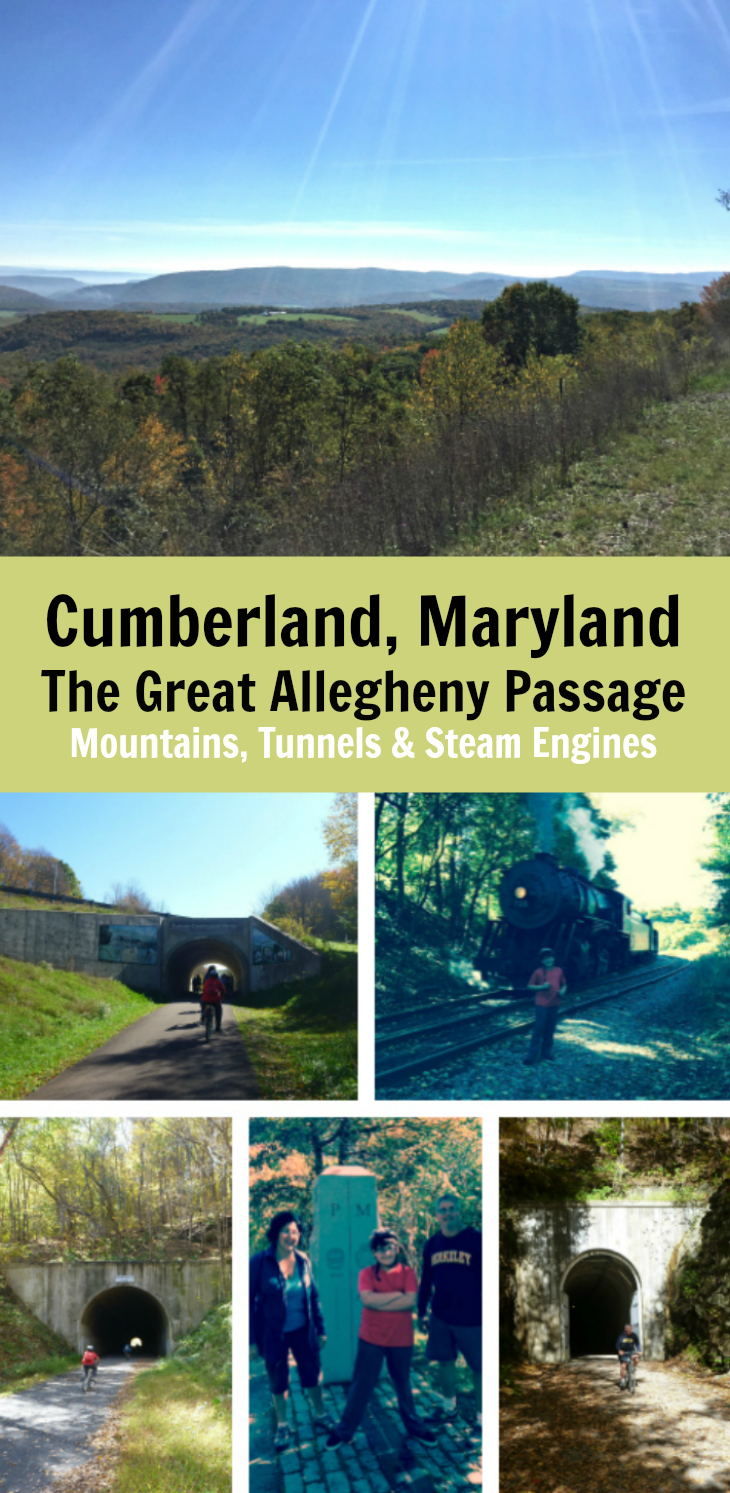 Enjoy a day trip from Deal PA to Cumberland MD on a scenic bike trip on the Great Allegheny Passage.