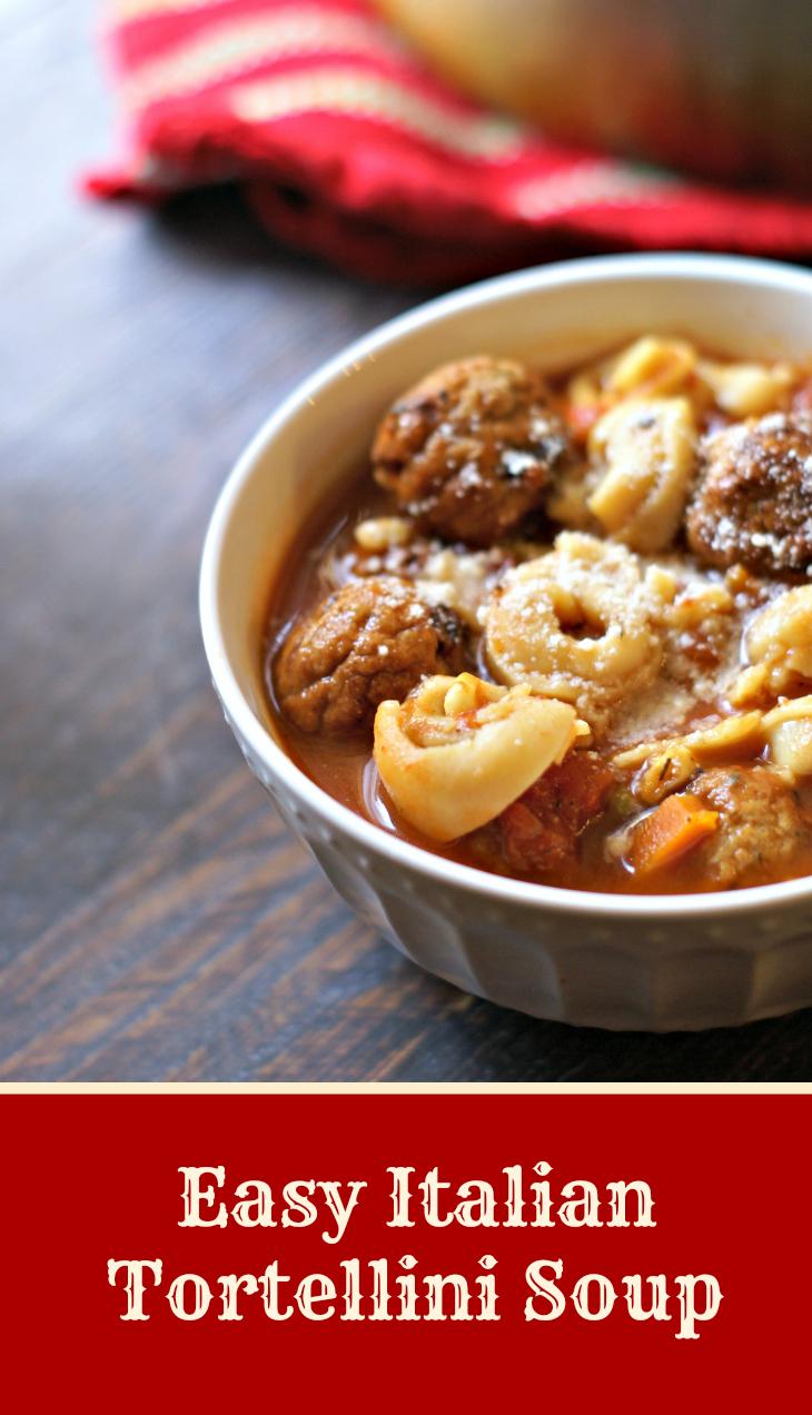 Easy Italian Tortellini Soup