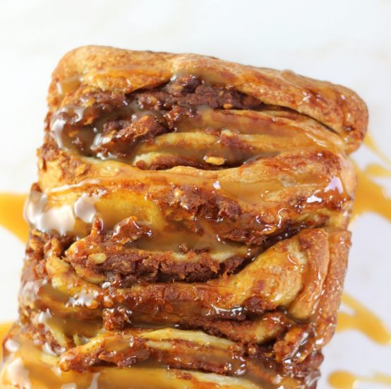 ... , and pecans, and topped with butterscotch sauce! Get the RECIPE