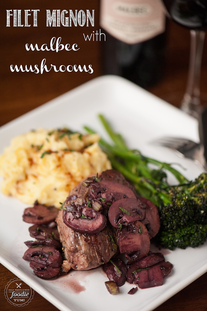 filet mignon with malbec mushrooms