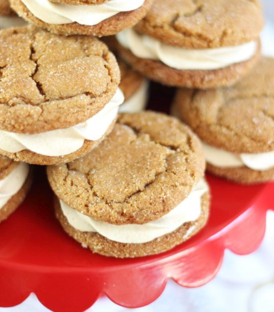 ginger cookie sandwiches