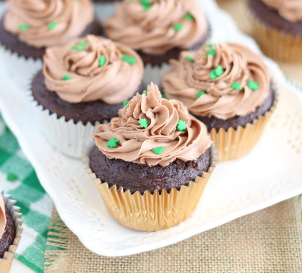 guinness chocolate truffle cupcakes with bailey's frosting 16