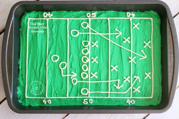 hail mary football field decorated brownies 8 pin