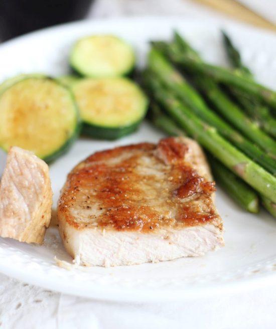 honey balsamic baked pork chops 9