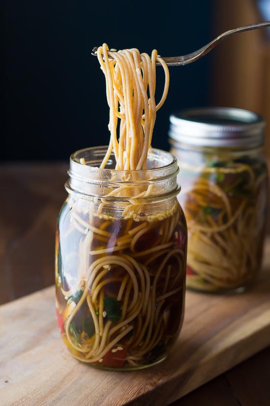Healthy Sesame Ginger Instant Noodles