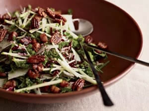 kale and apple salad image Con Poulos from Food and Wine Magazine