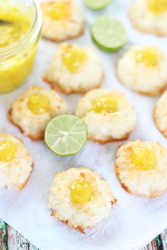 Key Lime Macaroon Thumbprints – Dan330