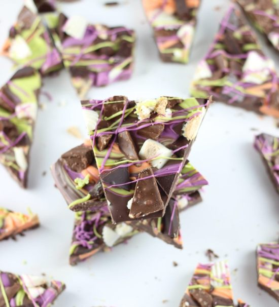 leftover halloween candy bark 27