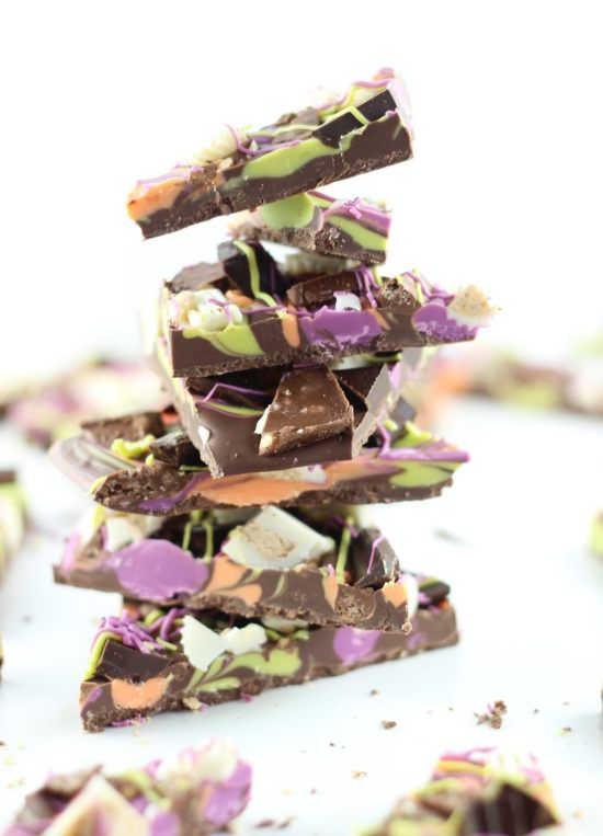 leftover halloween candy bark 37
