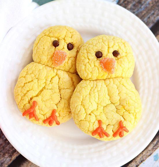 lemon cake mix cookie easter chicks 4