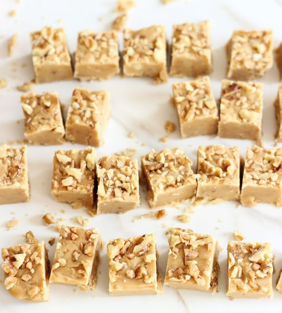 maple toffee walnut fudge