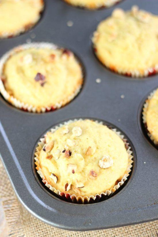 orange cardamom & hazelnut muffins