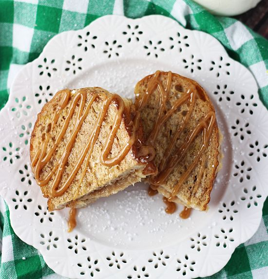 peanut butter cheesecake stuffed french toast