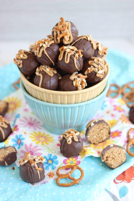 peanut butter pretzel truffles small