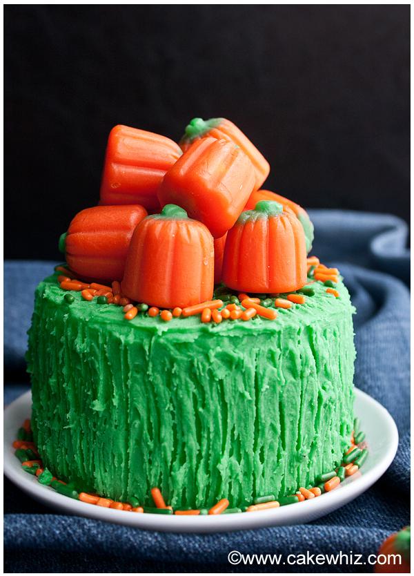 pumpkin cake with pumpkin candies