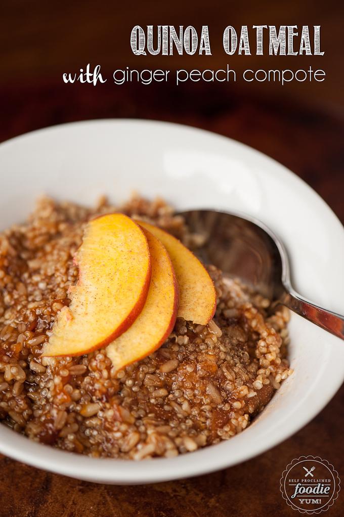 quinoa-oatmeal-ginger-peach-compote