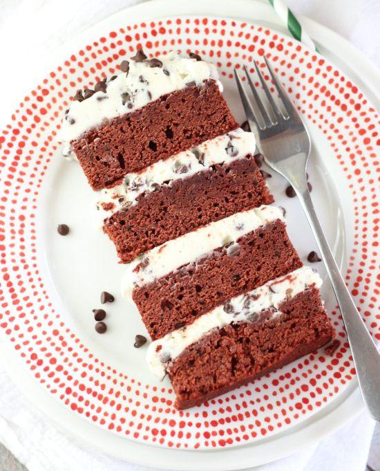 red velvet brownie torte