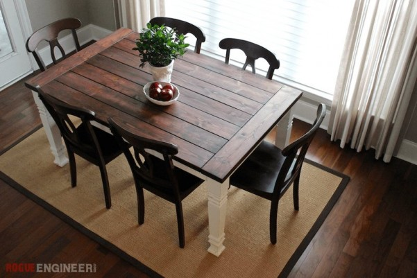 diy farmhouse dining table dan330