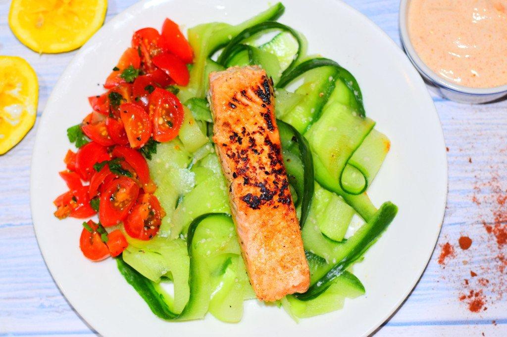Simple Salmon & Cucumber Salad