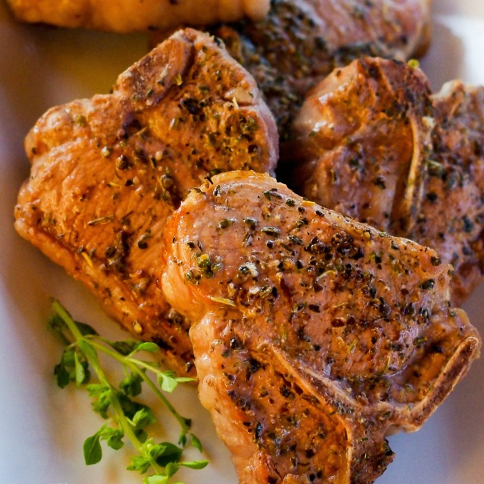 salt seared Lamb chops