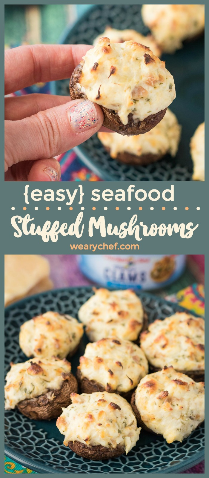 seafood-stuffed-mushrooms-collage
