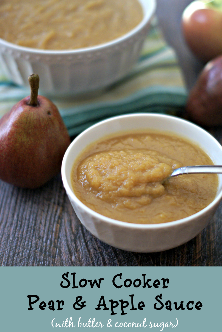 slow cooker apple & pear sauce