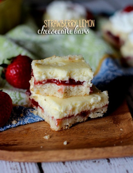 Strawberry Lemon Cheesecake Bars – Dan330