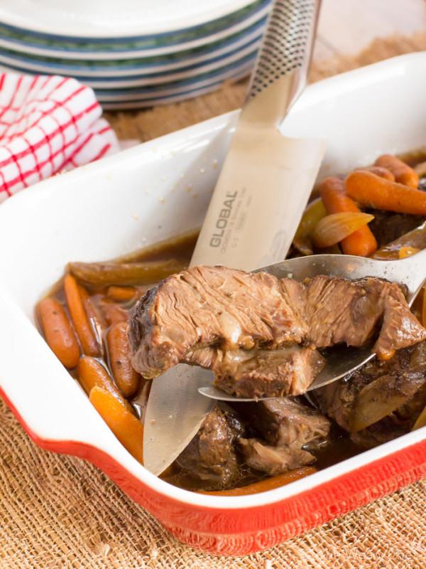 Molasses and Vinegar Crock Pot Beef Roast