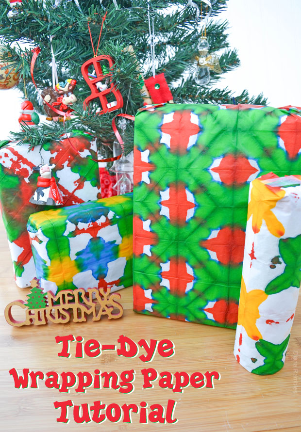 Tie-Dye Tissue Wrapping Paper Tutorial