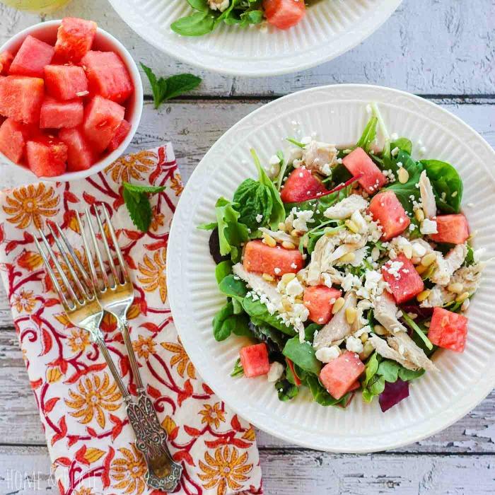 watermelon-chicken-salad-pine-nuts-feta-3