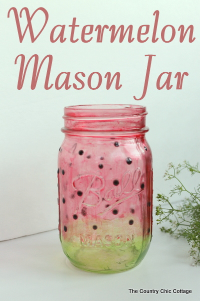watermelon mason jar craft