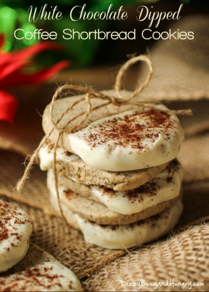 white chocolate dipped coffee shortbread title