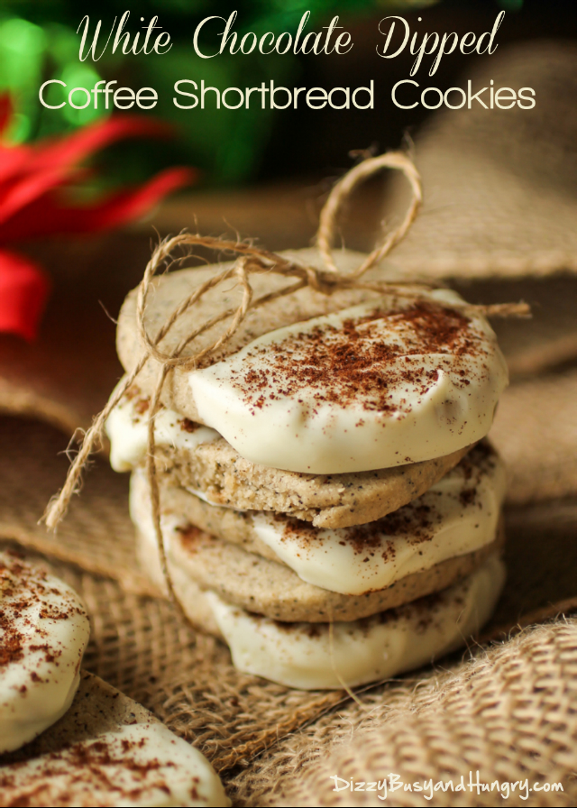 White Chocolate Dipped Coffee Shortbread Cookies – Dan330