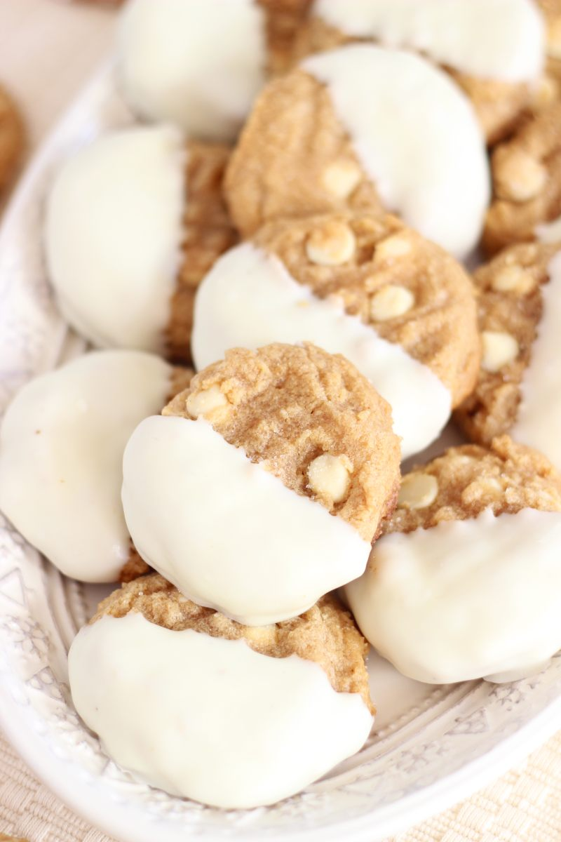 white chocolate dipped peanut butter cookies 17
