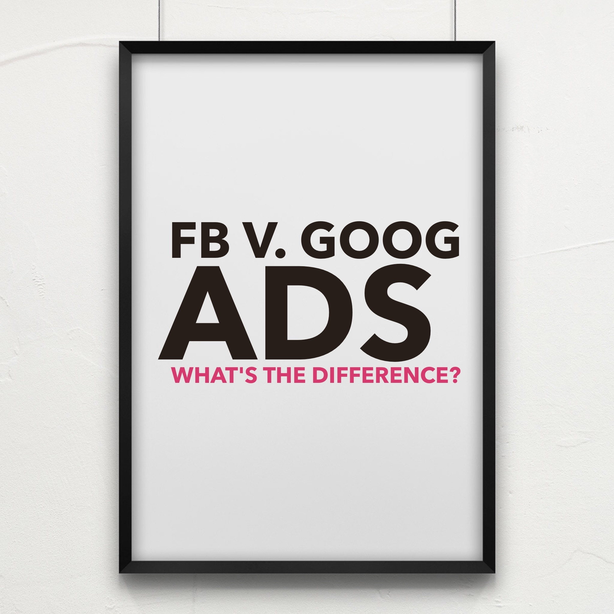 facebook v google ads