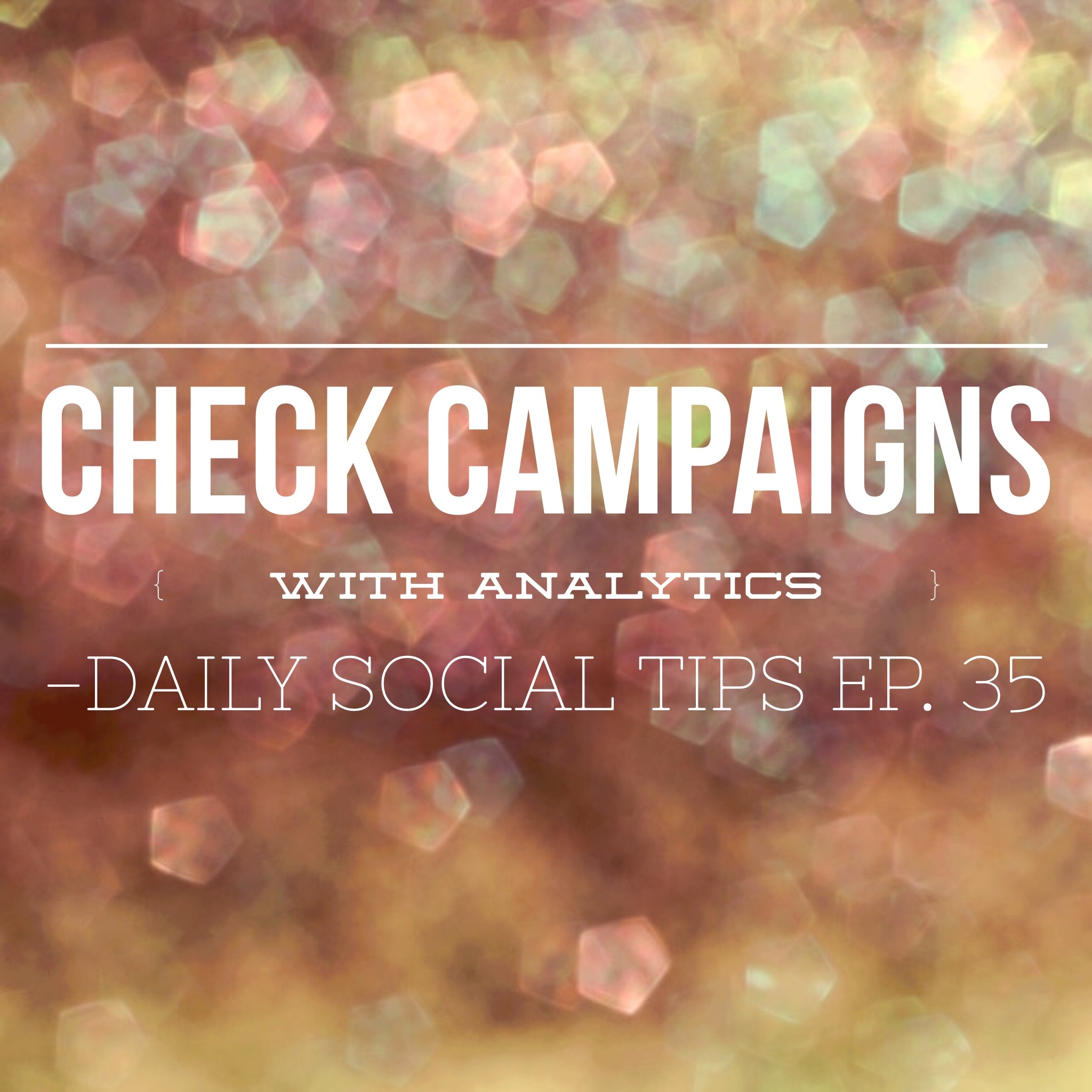 check campaigns with analytics