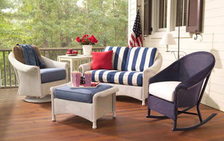 Outdoor Living Blog Outdoorlicious Red White and Blue Outdoor Furniture